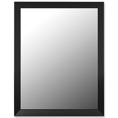 Hitchcock Butterfield Company Angle Iron Black Wall Mirror; 35.75''H x 25.75''W x 2.75''D
