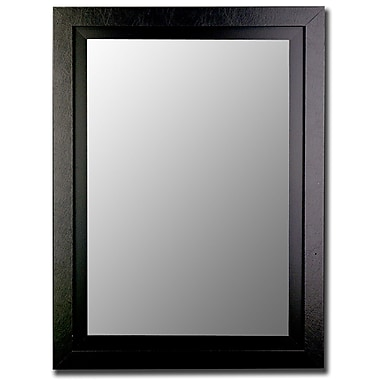 Hitchcock Butterfield Company Contemporary Wide Black Wall Mirror; 44.75''H x 32.75''W x 1.25''D