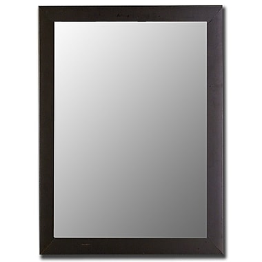 Hitchcock Butterfield Company Modern Satin Black Wall Mirror; 36.25''H x 26.25''W x 1''D