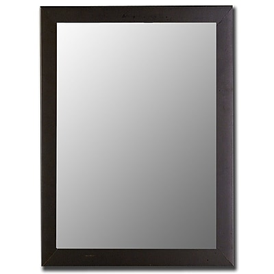 Hitchcock Butterfield Company Modern Satin Black Wall Mirror; 53.25''H x 41.25''W x 1''D