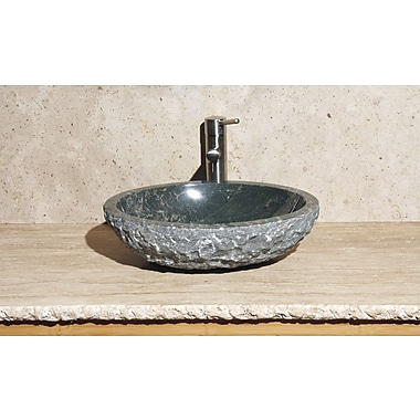 Allstone Group Oval Vessel Bathroom Sink; Abalone Granite