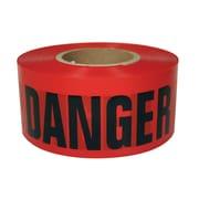 "Intertape® 3"" x 1000' Polyethylene Caution Barricade Ribbon, Red/Black, 8 Roll"