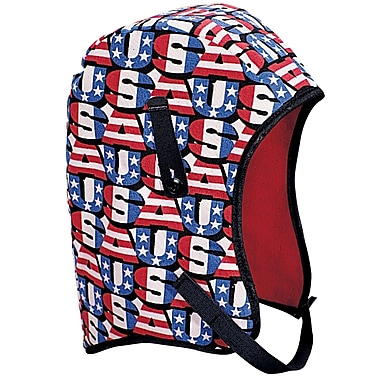 Mutual Industries Kromer Long Nape USA Winter Liner, Red/White/Blue, One Size