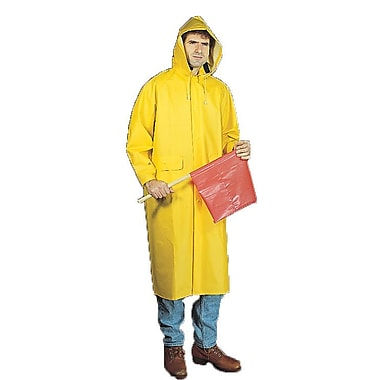 Mutual Industries 0.35mm PVC/Polyester 2 Piece Raincoat, Yellow, Large