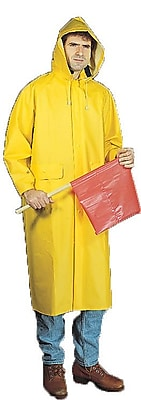 Mutual Industries 0.35mm PVC/Polyester 2 Piece Raincoat, Yellow, 3XL
