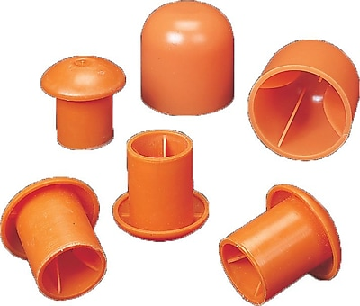 Mutual Industries #3 - #9 Standard Rebar Safety Cap, Orange