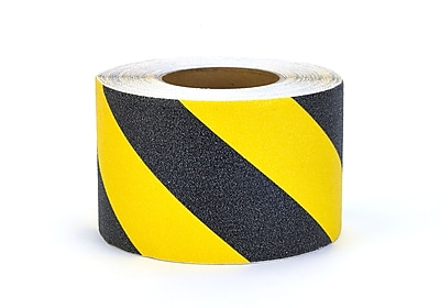 Mutual Industries Non-Skid Hazard Stripe Abrasive Tape, 4