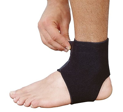 Mutual Industries Adjustable Neoprene Ankle Support, Black, One Size