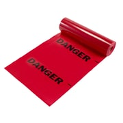 "Mutual Industries ""Danger"" Printed Tear-Off Safety Flag, 12"" x 12"" x 1500', Red"