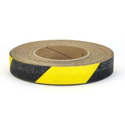 "Mutual Industries Non-Skid Hazard Stripe Abrasive Tape, 1"" x 60', Yellow/Black"