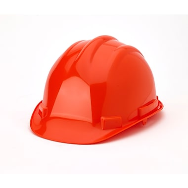Mutual Industries 6-Point Ratchet Suspension Hard Hat, Orange