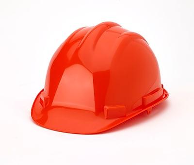 Mutual Industries 6-Point Ratchet Suspension Hard Hat, Orange