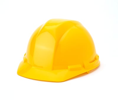 Mutual Industries 4-Point Ratchet Suspension Hard Hat, Yellow