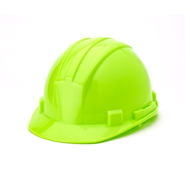 Mutual Industries 6-Point Ratchet Suspension Hard Hat, Hi-Vis Lime