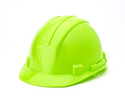 Mutual Industries 6-Point Ratchet Suspension Hard Hat, Hi-Vis Lime