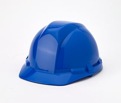 Mutual Industries 4-Point Ratchet Suspension Hard Hat, Blue