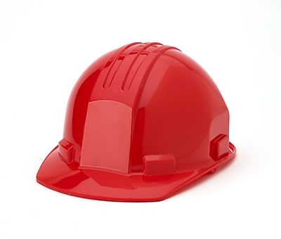 Mutual Industries 4-Point Pin Lock Suspension Hard Hat, Red