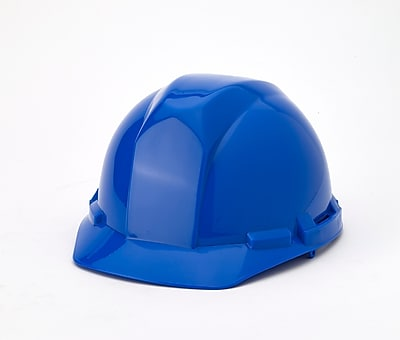 Mutual Industries 4-Point Pin Lock Suspension Hard Hat, Blue