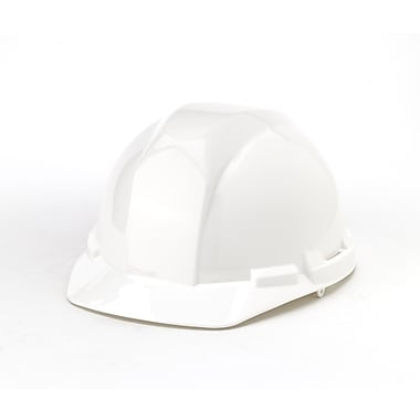Mutual Industries 6-Point Ratchet Suspension Hard Hat, White
