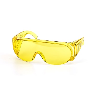 Mutual Industries Wrap Around Safety Glasses, Amber