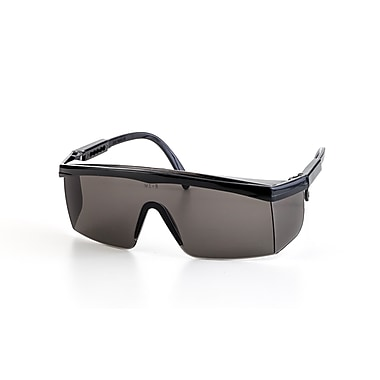 Mutual Industries Marlin Safety Glasses With Black Frame, Gray