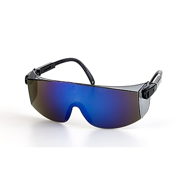 Mutual Industries Gator Safety Glasses, Blue Mirror