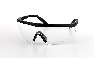 Mutual Industries Shark Safety Glasses With Black Frame, Clear