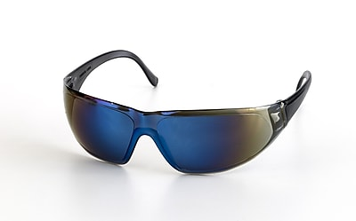 Mutual Industries Snapper Safety Glasses, Blue Mirror