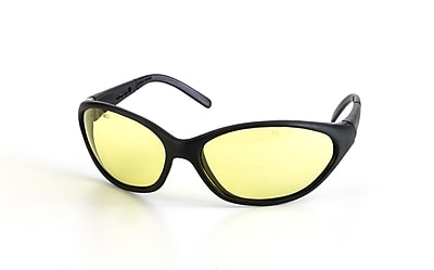 Mutual Industries Dolphin Safety Glasses With Black Matte Frame, Amber