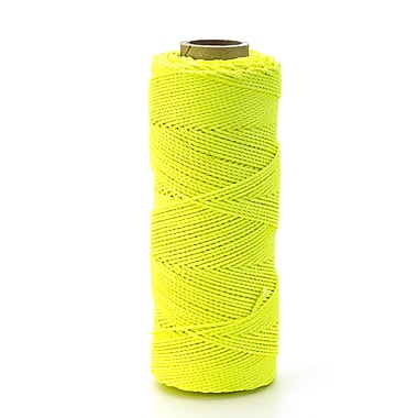 Mutual Industries Braided Nylon Mason Twine, Glo Lime