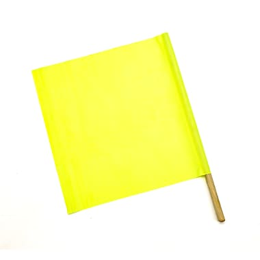 Mutual Vinyl Highway Safety Flags, Lime, 10/Pack