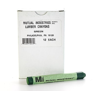 Mutual Industries Lumber Crayons, Green