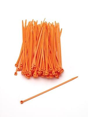 Mutual Industries Nylon Locking Ties, 7', Neon Orange