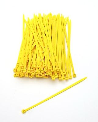Mutual Industries Nylon Locking Ties, 7', Yellow
