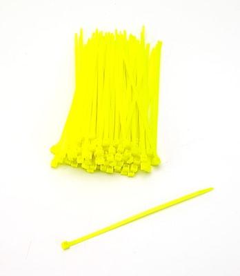 Mutual Industries Nylon Locking Ties, 7', Neon Yellow