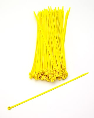 Mutual Industries Nylon Locking Ties, 11', Yellow