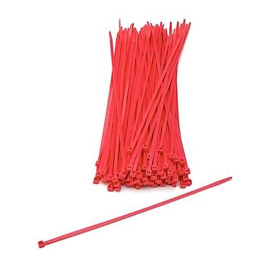 Mutual Industries Nylon Locking Ties, 11', Neon Red