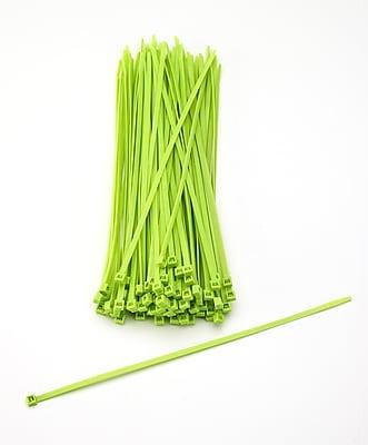 Mutual Industries Nylon Locking Ties, 11', Neon Green