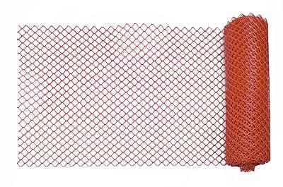 Mutual Industries Heavy-Duty Diamond Link Fence, 4' x 100', Orange