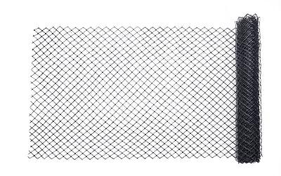 Mutual Industries Diamond Link Fence, 4' x 50', Black