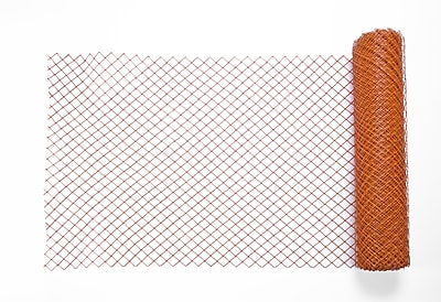 Mutual Industries Diamond Link Fence, 4' x 100', Orange