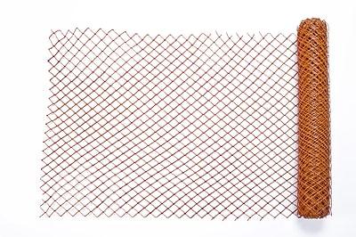 Mutual Industries Diamond Link Fence, 4' x 50', Orange