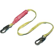 Mutual Industries 6' ABS Plastic Lightweight Shock Absorbing Lanyard With Locking Snap Hook
