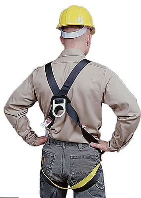 Mutual Industries Lightweight Full Body Universal Safety Harness With Single Back D-Ring