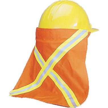 Mutual Industries Kromer Nape Protector With Reflective Stripes, Orange, 13 1/2