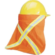 "Mutual Industries Kromer Nape Protector With Reflective Stripes, Orange, 13 1/2"" x 13"""