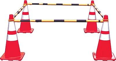 Mutual Industries Retractable Cone Bar, Yellow/Black