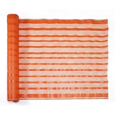 Mutual Industries Fabric Barricade Safety Fence, 4' x 150', Orange