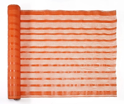 Mutual Industries Fabric Barricade Safety Fence, 4' x 150', Orange