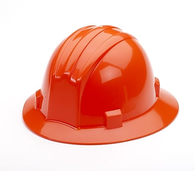 Mutual Industries Full Brim Hard Hat, Orange